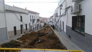 Obras de reforma de la calle Santo
