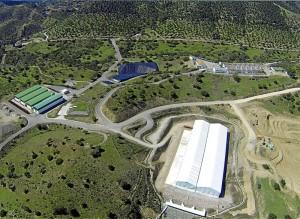 Vista aérea de las instalaciones de El Cabril, en el término de Hornachuelos. - Foto:CORDOBA