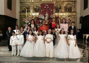 Quince niños reciben la Primera Comunión en Fuente Obejuna