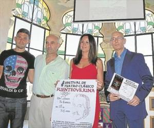 Silvia Mellado, Cristian Damián, Ángel Luis Martín y Manuel Gahete. - E. M. HERAS