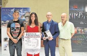 Autoridades y participantes en la presentación del cartel del festival. - EVA M. HERAS
