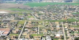 Vista aérea de las viviendas situadas en urbanizaciones de la zona Oeste de la capital. - TONI BLANCO