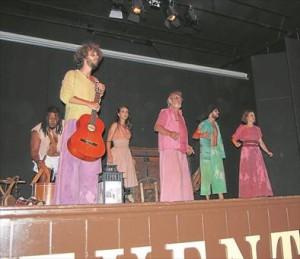 La compañía Viento Sur Teatro puso en escena 'Tiempo de burlas y entremeses'. - EVA M. HERAS