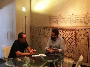 Mayoral (dcha.) y Rosón durante el encuentro mantenido. - EUROPA PRESS
