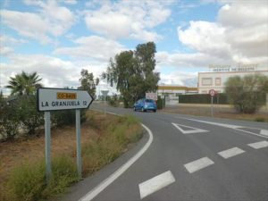La carretera CO-8405, que une Fuente Obejuna con La Granjuela, es una de las que serán reparadas. - E.M. HERAS