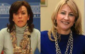 María Luisa Ceballos (izq.) e Isabel Cabezas. -