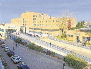 El hospital de Pozoblanco es el destino final de las dos rutas. - RAFA SÁNCHEZ