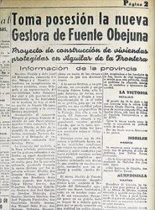 Hace 75 años Jueves, 20 de diciembre de 1941 Toma posesión la nueva gestora de Fuente Obejuna -
