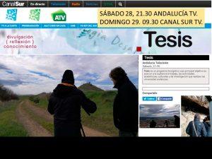 """El domingo en el programa """"TESIS"""" de Andalucía TV"""