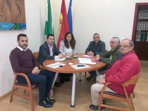 Reunión alcaldes y UGT autobuses