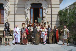 Miembros de la Legio I Vernácula de Gilena, que participaron en el desfile. - EVA M. HERAS
